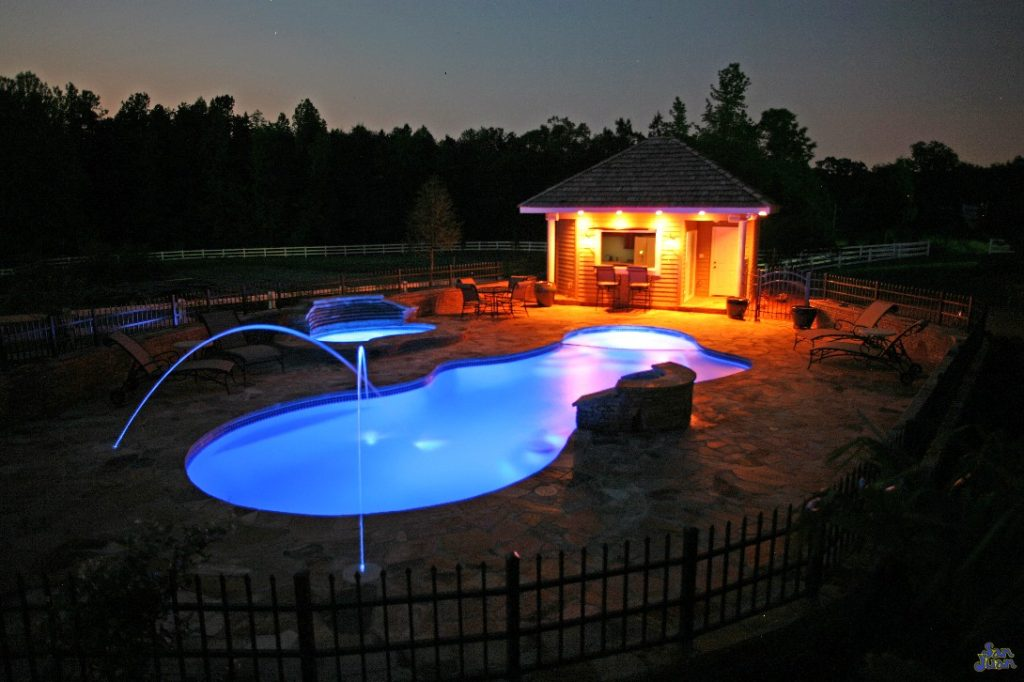 We now welcome you to your next dream oasis! The Pleasure Island is renowned and respected for it's beautiful free form design and attached spa. This swimming pool is perfect for developing an awe-striking scene in your own backyard!
