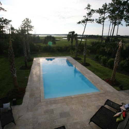 The Oceanside is a stunning rectangular fiberglass pool that's perfect for your active swimmer! We provide you with a set of extra wide entry steps plus a modest deep end.