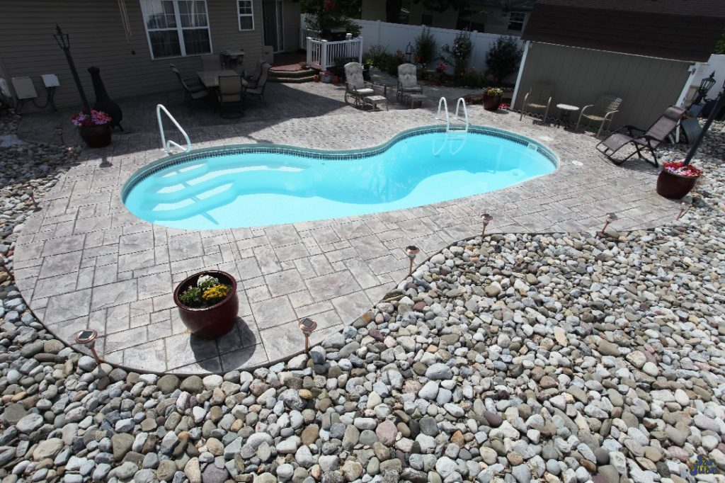 The Seaside is a beautiful fiberglass pool designed for small to medium sized backyards. It's Kidney shape offers a shallow end entry plus a modest 6' deep end for adventurous swimming.