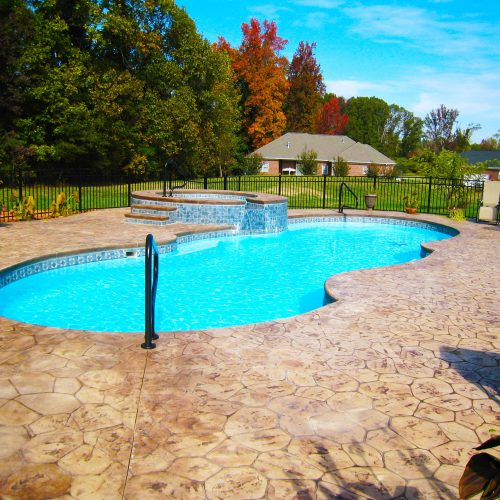 The Mirage is a fully functional fiberglass pool design that enhances your backyard living experience!