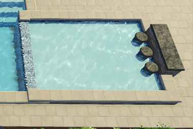 The Scottsdale Tanning Ledge is a brilliant add-on feature that we offer for all our clients. It's a terrific ancillary feature that pairs well with nearly all of our fiberglass pool options. You'll love this spacious area for tanning, playing and the relaxing space it creates!