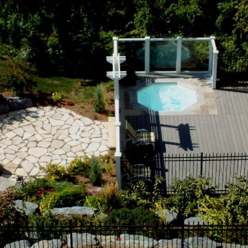 The Haven Spa is a modern shaped fiberglass spa with eight sides. It's a great choice for those home owners who love to entertain! With enough seating for 7-8 guests, you've got plenty of room for quality time in the great outdoors!