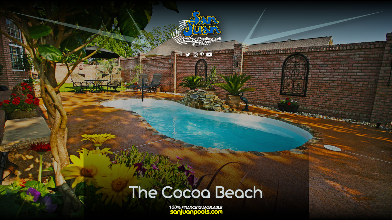 The Cocoa Beach is a traditional figure-8 layout with beautiful curves & petite size.