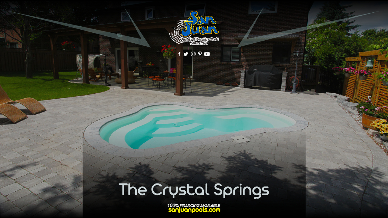 The Crystal Springs is a wonderful option for our clients who prefer to relax and soak in their backyard oasis.
