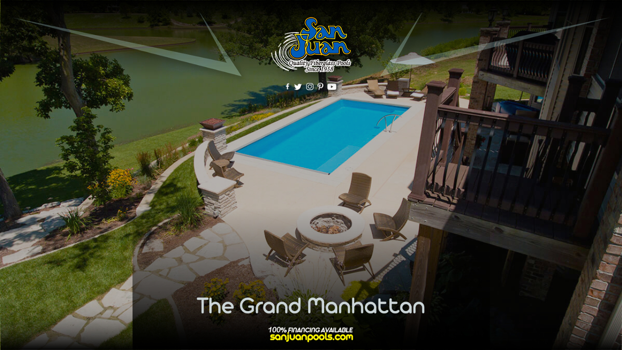 If you're looking for a fiberglass pool that is perfect for entertaining large numbers of guests, the Grand Manhattan is a strong contender!
