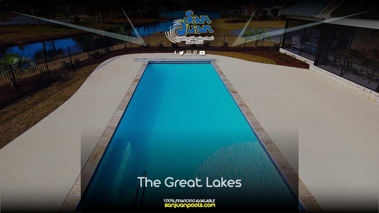 The Great Lakes is a very modern fiberglass pool shape.