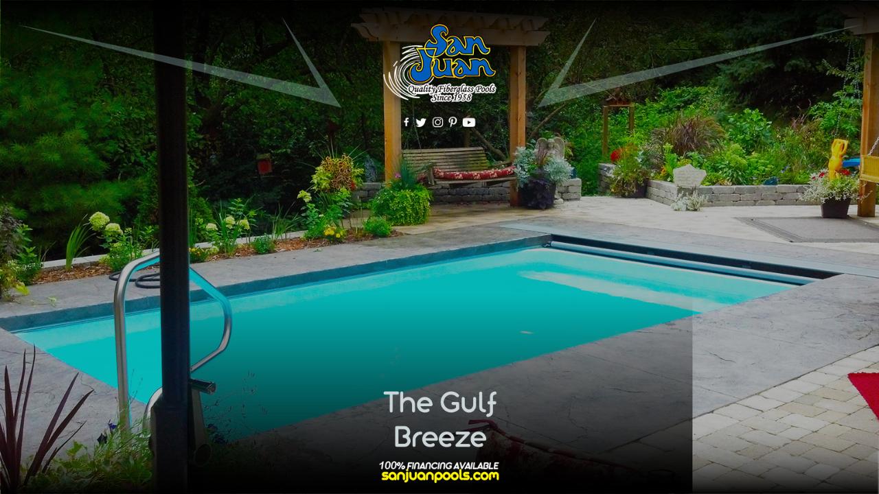 The Gulf Breeze – A Shallow Flat Bottom Rectangle Pool