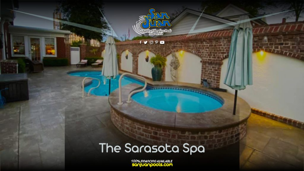 The Sarasota Spa – A Round Fiberglass Spa with Spillover Effect