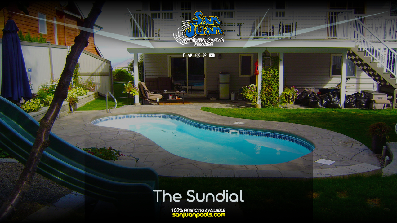 The Sundial is a fun and playful fiberglass swimming pool.