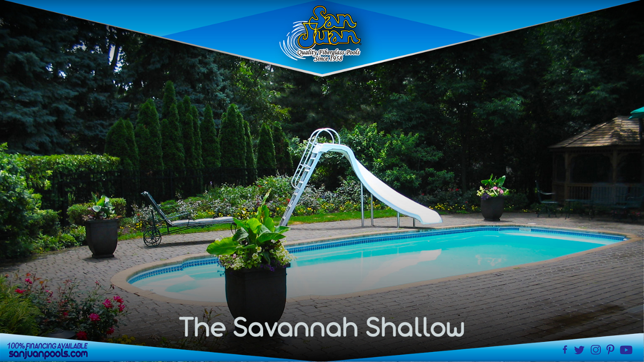 The Savanna is very similar to our Hawaiian pool model, but it is slightly longer and deeper than the Hawaiian.