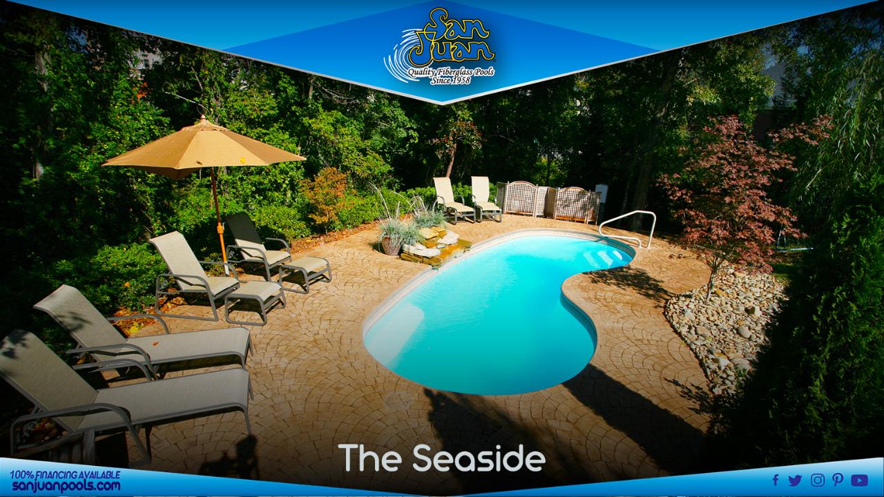 The Seaside – A Medium Sized, Kidney-Shaped Pool