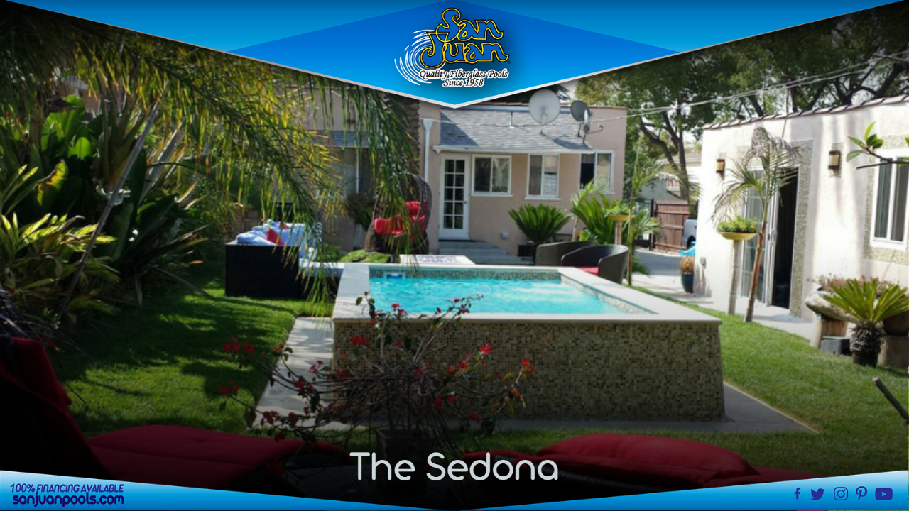 The Sedona – A Raised Fiberglass Swimming Pool