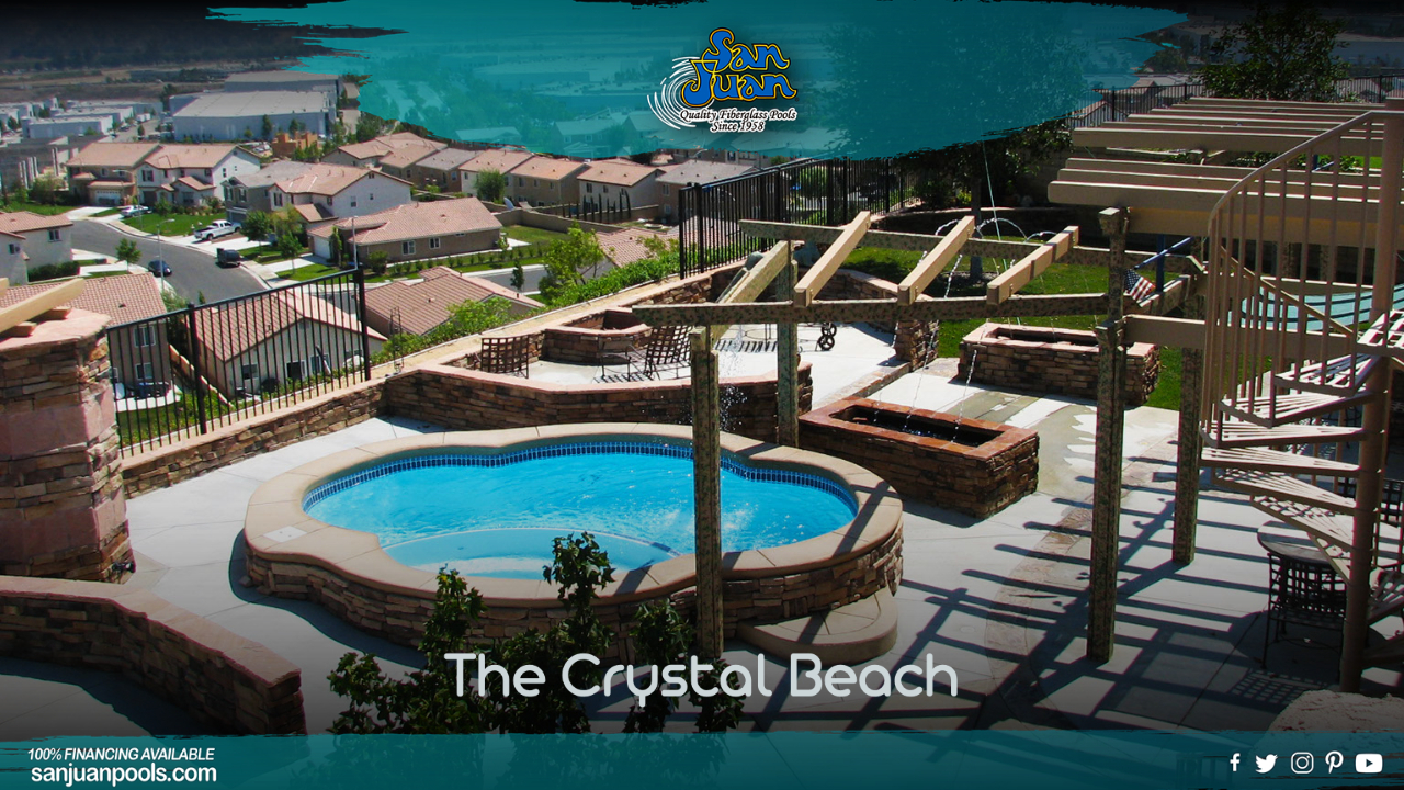 The Crystal Beach – A Small Free Form Pool with Attached Spa