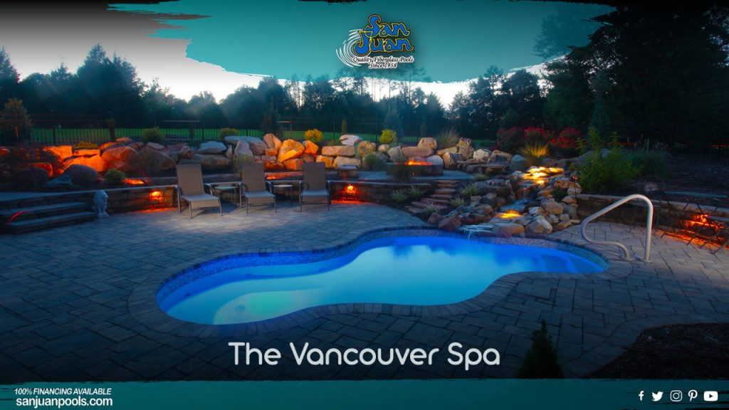 The Vancouver Spa is a fantastic fiberglass spa model that provides a wide space for friends and family to connect.