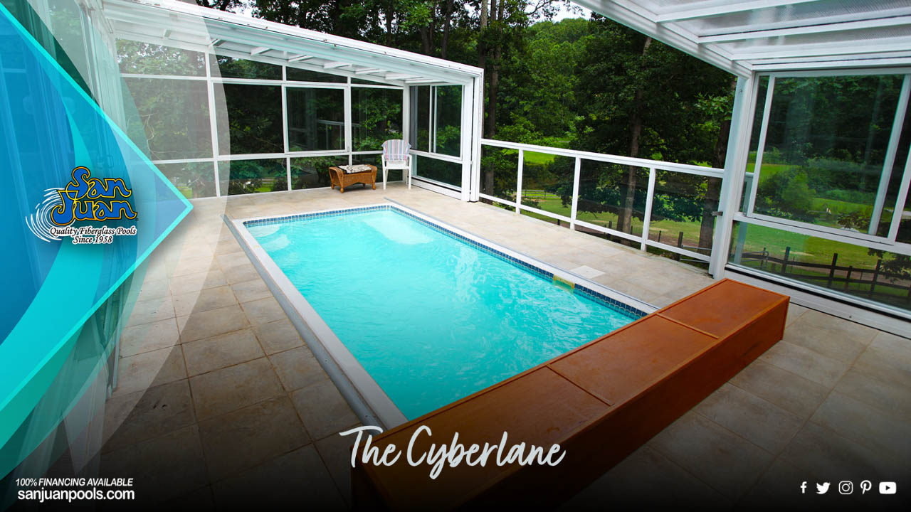 The Cyberlane - Modern Pool Shape with Flat Bottom