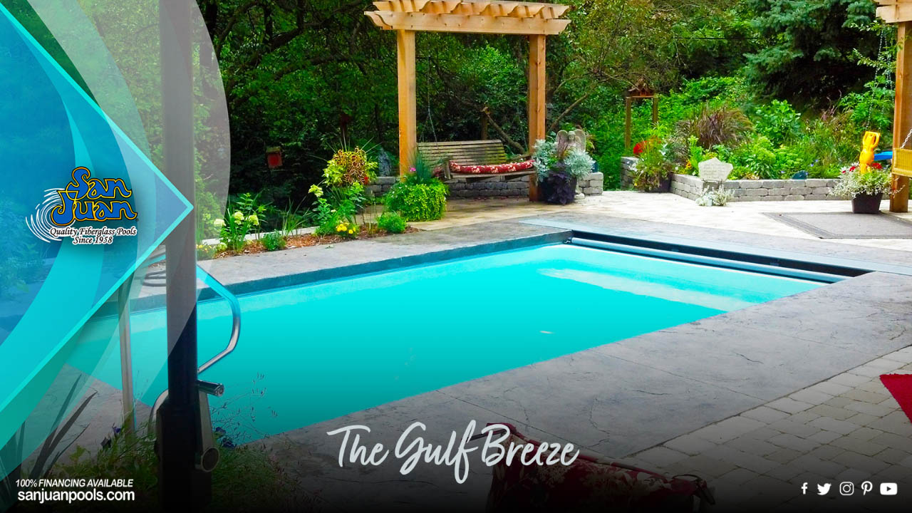 The Gulf Breeze – A Shallow Flat Bottom Rectangle Pool