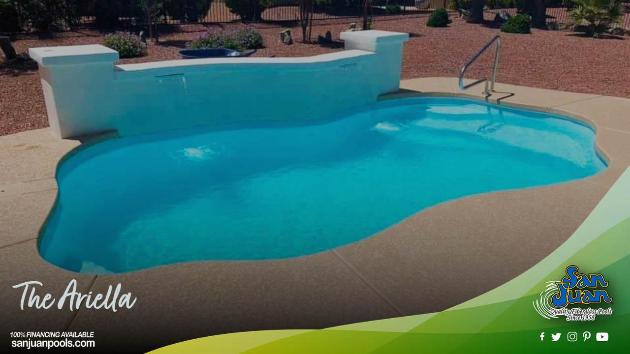 The Ariella – A Petite Free Form Fiberglass Swimming Pool