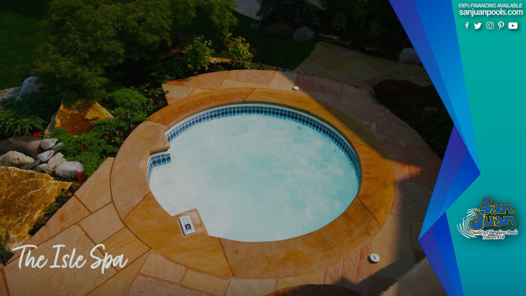 The Isle Spa – A Stunning Accent Spa for any Fiberglass Pool