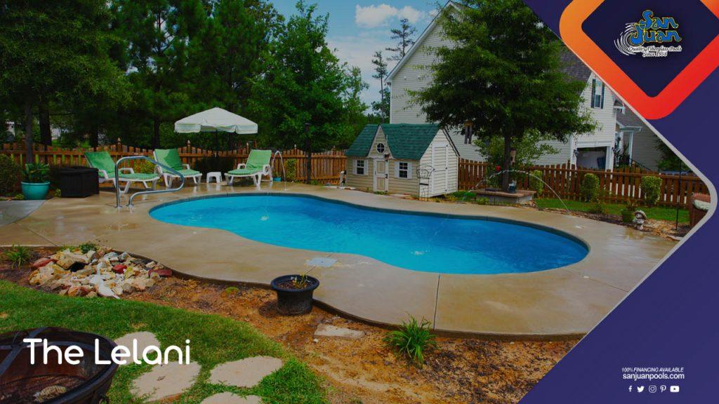 The Lelani – A Free Form Pool Shape with Tanning Ledge