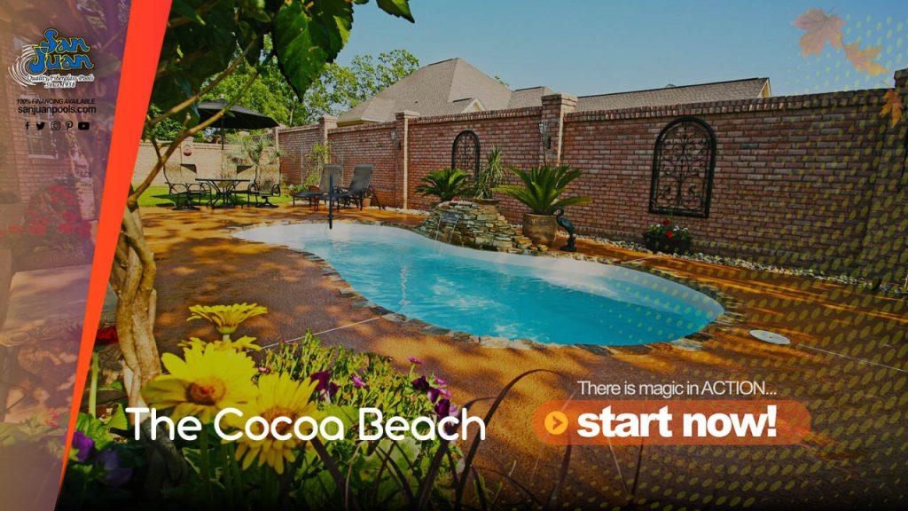 The Cocoa Beach – A Breath Taking Figure-8 Fiberglass Swimming Pool